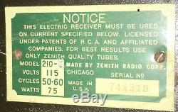 1930s zenith Zenette superheterodyne tube radiotombstone cathedral cool