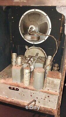1936 Zenith Black Dial Model 6-V-27 Tombstone Radio For Restoration