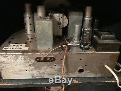 1936 Zenith Model 6V62 Working Black Dial Vacuum Tube Console Radio