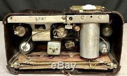 1940 RARE Zenith #6P-417 MAHOGANY Bakelite vintage Vacuum Tube Radio