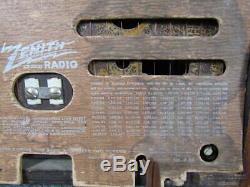 1941 Clean Zenith Radio, Model 6d526, Working Condition, Art Deco Toaster Case