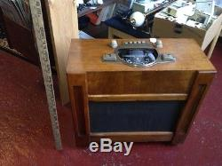 1941 Vtg Zenith Chair Side Tube Standard Short Wave Radio Console Cabinet Works