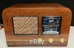 1942 Zenith wood tabletop vintage vacuum tube radio SHORTWAVE! WORKING
