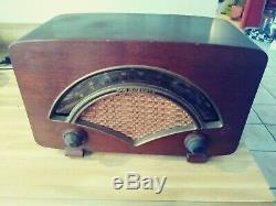 1946 Zenith Model 8H034 multi-band tube table radio working (kinda) parts/repair