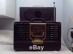 1948 ZENITH Trans-Oceanic Short Wave Radio Model 8G005TZ1Y Black 8G005 WORKS