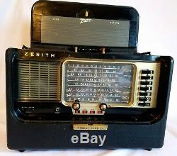 1950-59 Zenith Wave Magnet Short Wave Portable Trans-oceanic Radio Receiver