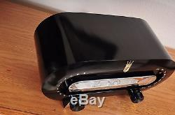 1950 Beauty ZENITH Racetrack H-511 Mid Century AM Tube Playing Great Stunning