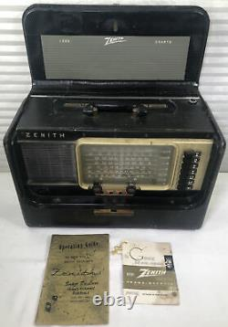 1950s Zenith A600 Trans Oceanic SW Radio Wave Magnet Tubes