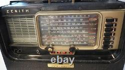 1950s Zenith A600 Trans Oceanic SW Radio Wave Magnet Tubes WORKS Amazing Shape