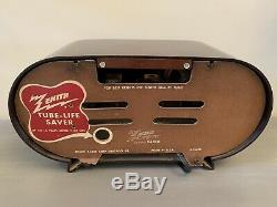 1951 Vintage Racetrack Original Bakelite Zenith Model H511 Tube Working AM Radio