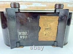 1951 Zenith CONSOLE TONE H511 Tube Broadcast Radio Bakelite Art Deco Chicago USA
