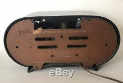 1951 Zenith Classic Racetrack Vintage AM Radio H511Y Works Free Shipping Rare