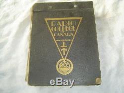 1955 Radio College of Canada service training manual radio tubes Edison effect