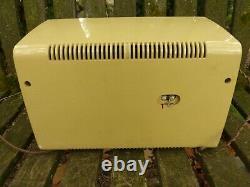 1959 Zenith Model C724P AM/FM Tube Radio Super Caroline. Champagne Gold. Works