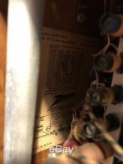 A600L 1950's Zenith Wave Magnet Transoceanic Shortwave Tube Ham Radio A 600 L