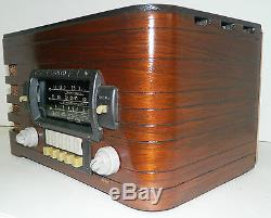AWESOME PRE-WAR ZENITH 6S439 BLACK DIAL WOOD RADIO AM/ SW RESTORED WORKS