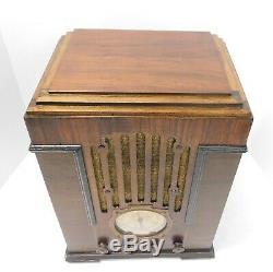 Antique General Tombstone Radio In Zenith 808 Case