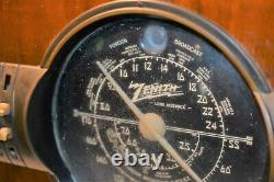 Antique Long Distance Zenith Tube Radio Foreign Broadcast & Police 1g