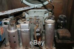 Antique Rca Tombstone Radio Model 5t 1936 Art Deco Sky Scraper