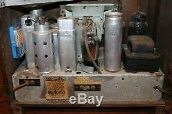 Antique Rca Tombstone Radio Model 5t 1936 Art Deco Sky Scraper Working