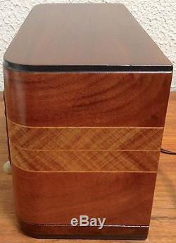 Antique Vintage Old Zenith Model 5R316 Art Deco Wooden Wood Tube Radio Working