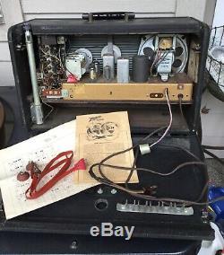 Antique Vtg ZENITH H500 TRANS OCEANIC Wave Magnet Shortwave Tube RADIO Schematic