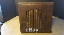Antique Zenith 5-R-216 Cube Table Radio As Found Restoration Project Circa 1937