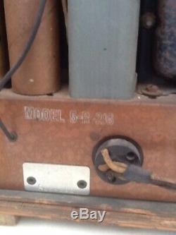 Antique Zenith Cube Tube Radio Refurbished