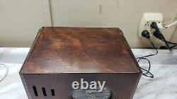 Antique Zenith Cube Wood Radio 1937 Model 5-R-216