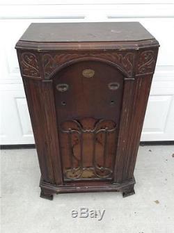 Antique Zenith Floor Radio Cabinet Walnut Model 750