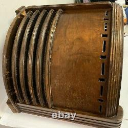 Antique Zenith Long Distance Tube Console Radio Wood Cabinet + Field Coil Alnico