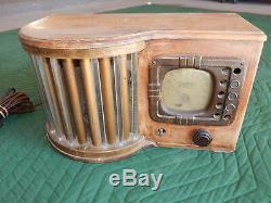 Antique Zenith Radio Art Deco Glass Grille