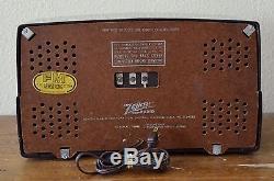 BEAUTIFUL Working VTG (1948) Zenith 7H820 Bakelite Tube Radio Dual-Band FM
