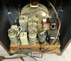 Beautiful, working 1937 Zenith 5S127 tombstone vintage vacuum tube radio- L@@K