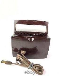 C. 1953 Zenith K412-R Owl Eyes TUBE RADIO, 6-1/2, WORKS