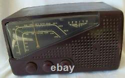 Classic Vintage Zenith Bakelite AM/FM Tube Radio Restored Working