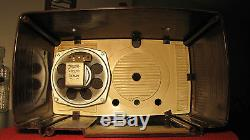 EXCELLENT 1950'S ZENITH AM/FM 7-TUBE RADIO MODEL Y724 SERVICED WORKS GREAT