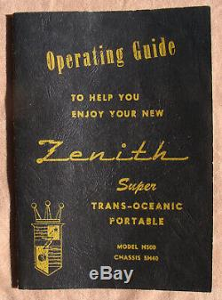 Electronically Restored ZENITH H500 TRANS-OCEANIC RADIO (NR)