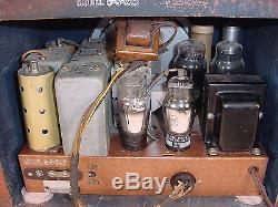Exceptional Vintage'37 Zenith 6-S-222 6S222 Original Unrestored Cube Tube Radio