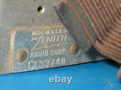 Extremely Rare 1946 Zenith 6D014W Consoltone Boomerang White Bakelite Tube Radio