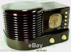 FABULOUS! 1938 Pre War ZENITH Art Deco Bakelite Tube Radio