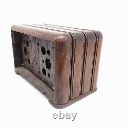 For Parts Only Vintage Tube Radio Zenith The Toaster Tabletop 6D625 Wood Cabinet