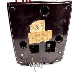 For Repair 1953 Zenith Bakelite Tube Radio Record Player Cobra Matic Turntable