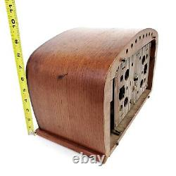 For Repair VTG 1942 Zenith Tube Radio 6D2620 Broadcast Shortwave AM Curved Wood