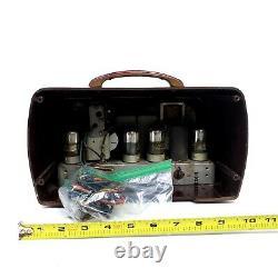 For Repair Vintage Zenith Tube Radio Bakelite 5G510 Original Box Portable 1941