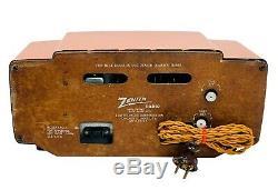 GORGEOUS 1954, ZENITH Model T524V ORANGE OR ENCHILADOUS A LA TUPE