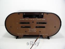 Gorgeous Restored Mid-Century/Art Deco Zenith H511 Racetrack Tube Radio
