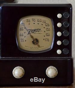 INCREDIBLE Working VTG (1938) Zenith 6D312 Beehive Bakelite