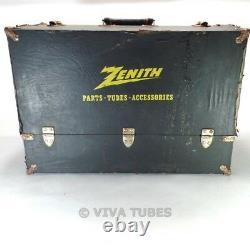 Large, Black & Yellow, Zenith, Vintage Radio TV Vacuum Tube Valve Caddy Case