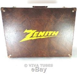 Large, Brown, Zenith, Vintage Radio TV Vacuum Tube Valve Caddy Carrying Case